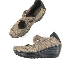 Bernie Mev Women's Woven Wedges Shoes Sz 38